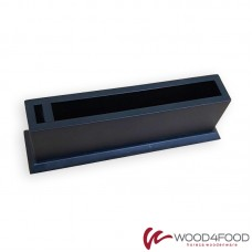 купить Wooden napkin holder with compartment for toothpicks, dyed alder