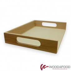 купить Wooden serving tray for burgers 350 * 250 * 50 mm