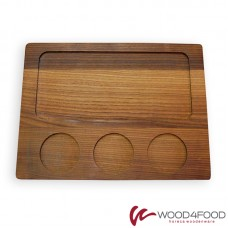 купить Wooden board for serving 320 * 240 * 20mm, ash