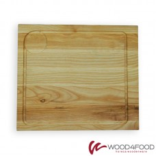 купить Wooden serving board with recess for gravy boat, 310 * 270 * 20 mm, ash, oil / wax