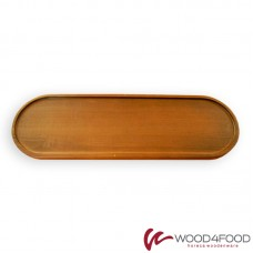 купить Wooden serving board oval 545 * 170 * 20 mm, height with legs 40 mm, ash