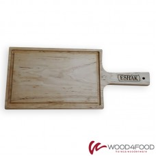 купить Wooden board with handle 290 * 190 * 18 mm, alder, handle length 145 mm