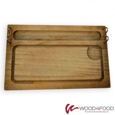 купить Wooden board for serving kebabs 360 * 225 * 20 mm