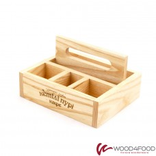 купить Wooden organizer 170 * 145 * 100 mm, ash, varnish
