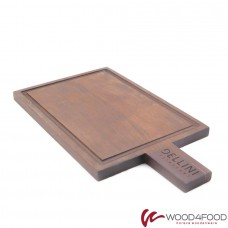 купить Wooden board for serving dishes with handle, 390 * 220 * 20 mm, thermograb, oil / wax
